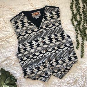 Vintage Aztec Print Vest